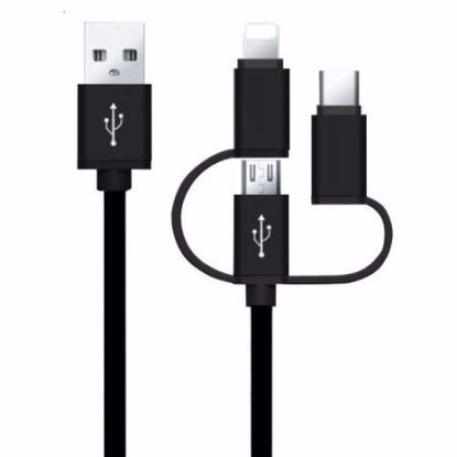 Picture of iGo 3in1 Type-C, Lightning & Micro USB 1m Cable