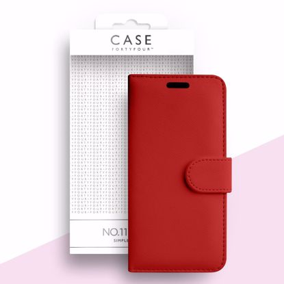 Picture of Case FortyFour Case FortyFour No.11 for Samsung Galaxy A51 in Cross Grain Red