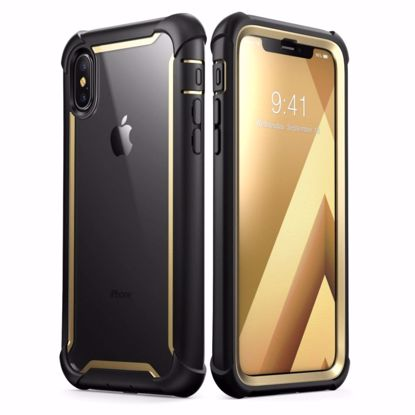 Picture of i-Blason i-Blason Ares Clear Case with Screen Protector for Apple iPhone XS/X in Gold