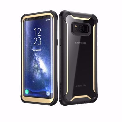 Picture of i-Blason i-Blason Ares Case with Built-In Screen Protector for Samsung Galaxy S8+ in Black/Gold