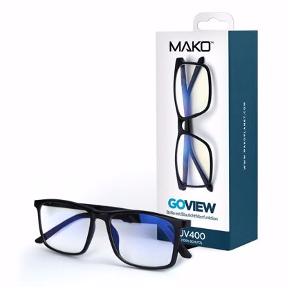 Picture of Mako MAKO GOVIEW Blue Light Filter Glasses in Black