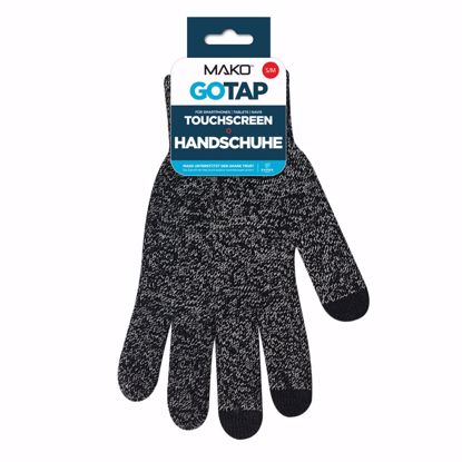 Picture of Mako MAKO GOTAP Touchscreen Gloves in S/M in Heather