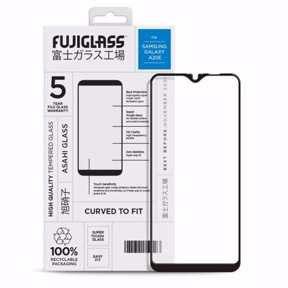 Picture of Fuji Fuji Curved-to-fit Screen Protector for Samsung Galaxy A20e in Clear/Black